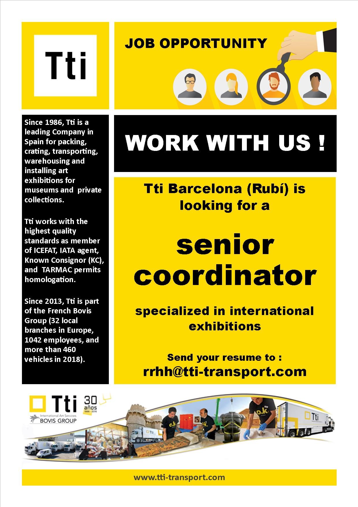 Job offer - Senior Coordinator
