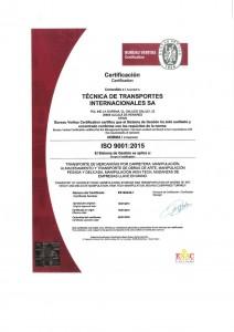 Certificado Calidad Tti